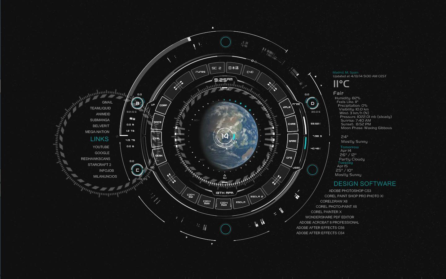 Escritorio futurista planeta tierra musica juegos y for Fotos fondo escritorio